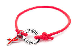 bracelet red images Red diabetes awareness stretch charm bracelet aids awareness jpg