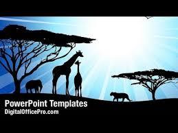 african safari powerpoint template backgrounds digitalofficepro