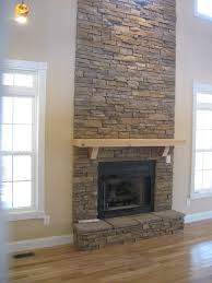 enchanting electric fireplace stacked stone pictures decoration