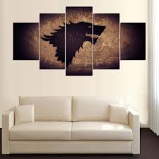 5 panel canvas art game of thrones painting warrior picture for