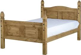 3 Quarter Bed Frame Corona Three Quarter Bed Finished In Distressed Waxed Pine