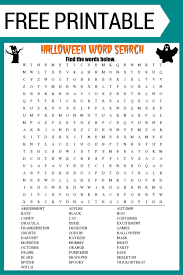 printable word search halloween word search free printable