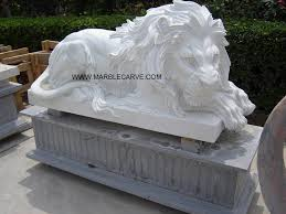 marble lions marble carving of lions marble garden carving yf l005