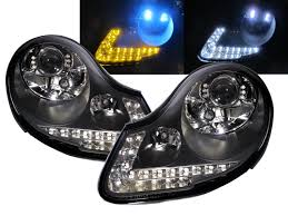 porsche headlights crazythegod carrera 911 996 boxster 986 projector led arrow r8