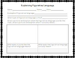 figurative figurative language worksheets 5th grade worksheets