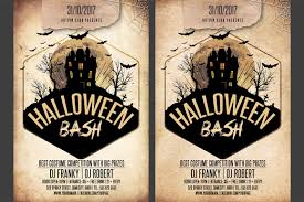 halloween haunted house flyer background halloween bash party flyer flyer templates creative market