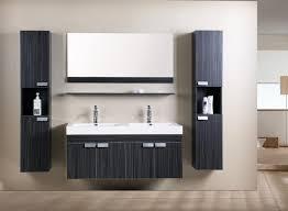 armadietto bagno con specchio mobile bagno doppio lavabo completo pensile 120cm wenge con