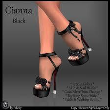 second life marketplace felicity gianna stilettos black high