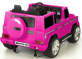 pink mercedes truck mommy u0026 me 12 volt 2 seat electric mercedes ride on truck g55 amg