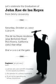 college invitations sle invitations for college graduation party unique template