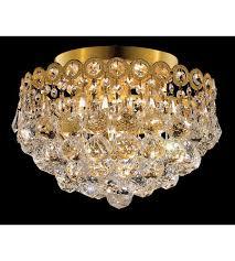 Ebay Chandelier Crystal Palace Royal 4 Light Flush Mount Crystal Chandelier Lighting Gold