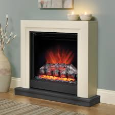 bemodern perthshire electric fireplace suite in ivory costco uk