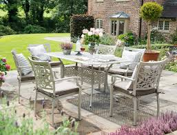 hartman celtic 6 seater rectangle garden set with cushions and