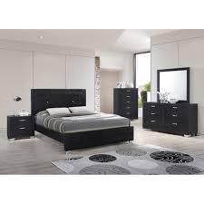 Black Bed Sets Brahma Jet Platform Bedroom Set Black Dcg Stores