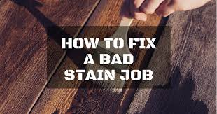 How To Repair Laminate Floor How To Fix A Bad Stain Job In Three Easy Steps Repairdaily