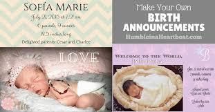 how to create your own birth announcements to save money humble