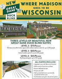 Blind Great Dane New Great Dane Duck Blind Suites Madison Mallards Madison Mallards