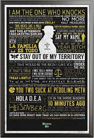 Breaking Bad Poster Breaking Bad Typographic Poster 61x91 5