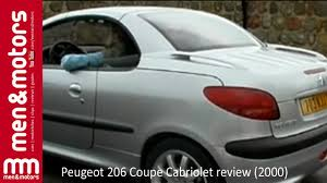 peugeot cabriolet 206 peugeot 206 cabriolet review 2000 youtube
