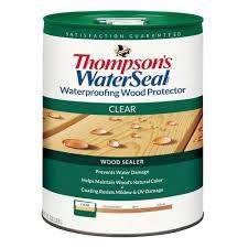 thompson u0027s waterseal 5 gal clear waterproofing wood protector th