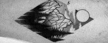 50 geometric mountain tattoo designs for men geometry ink ideas