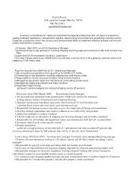 Sample Resume For Shipping And Receiving by David Roach Distribution Manager Resume