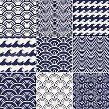 vintage japanese traditional pattern vector weaving ikat batik