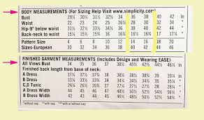 how to choose the right size on a sewing pattern