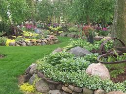 Small Backyard Rock Gardens Triyae Com U003d Rock Landscaping Ideas For Backyard Various Design