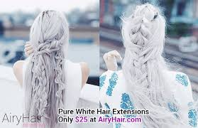 white hair extensions our top 20 best hairstyles of 2016 and 2017