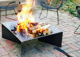 Modern Fire Pits by 30 Inch Modern Fire Pit