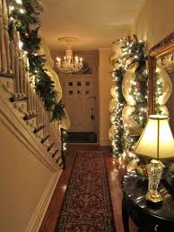 Christmas Lights For Stair Banisters 50 Stunning Christmas Staircase Decorating Ideas U2014 Style Estate