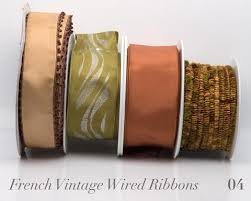 brown ribbon wired ribbons renaissance ribbons