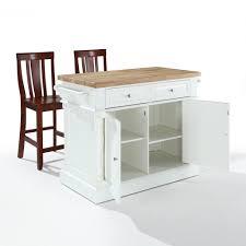 Crosley Butcher Block Top Kitchen Island Crosley Furniture Butcher Block Top Kitchen Island In White W 24