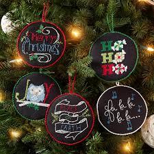 shop plaid bucilla seasonal counted cross stitch ornament