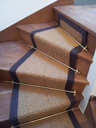decorating stair runners as plain cream stair carpet with white