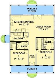 House Plans With Kitchen In Front Plan 2568dh Small Plan Big Heart Kitchen Dining Flipping And