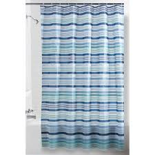 Aqua Blue Shower Curtains Mainstays Breton Stripe Shower Curtain Walmart