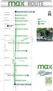 Fort Collins Colorado Map by Map Max Transit Route