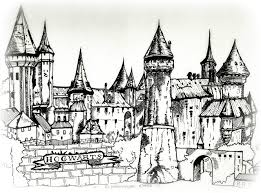 hogwarts of witchcraft and wizardry drawing by jaeronn1130