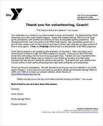 11 sample coach thank you letters