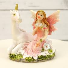 unicorn cake topper pink fairy and unicorn cake topper decoration