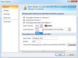 chagne ribbon how to change ribbon color scheme in outlook