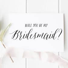Bridesmaid Invitation Cards Will You Be My Bridesmaid Card Bridesmaid Proposal Cards
