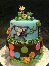 baby jungle animals baby shower cake cassie cakes pinterest