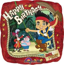 jake and the neverland birthday jake the never land happy birthday foil balloon