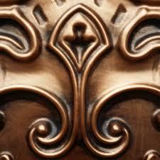 pl19 faux tin ceiling tiles antique copper color 3d embossed