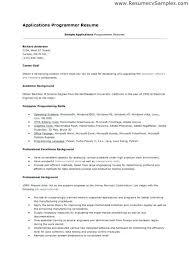 programmer sample resume sample resume entry level computer