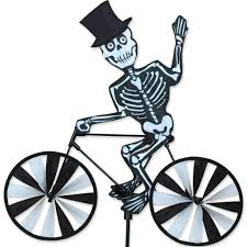 halloween garden flag amazon com 20 in bike spinner skeleton toys u0026 games