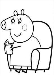 dibujo de peppa pig colorear minions pinterest
